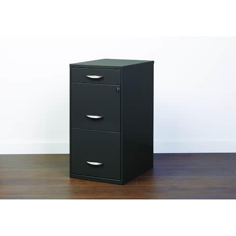 Porch & Den Ferris 3-drawer Charcoal File Cabinet
