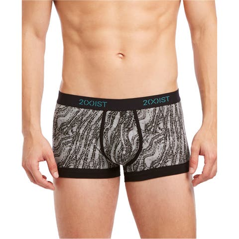 2(X)Ist Mens Printed No-Show Underwear Boxer Briefs