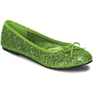 Funtasma Women's Star 16G Lime Green Glitter