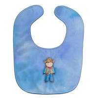 Cowboy Watercolor Baby Bib