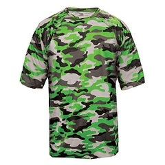 Adult Camo Short-Sleeve T-Shirt LIME CAMOUFLAGE M