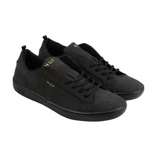HUF Boyd Mens Black Leather Lace Up Lace Up Sneakers Shoes