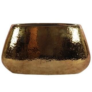 Hammered Pattern Ceramic  Vase, Large, Copper