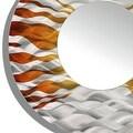 Statements2000 Silver / Brown Metal Decorative Wall-Mounted Mirror by Jon Allen - Mirror 107 - Thumbnail 3