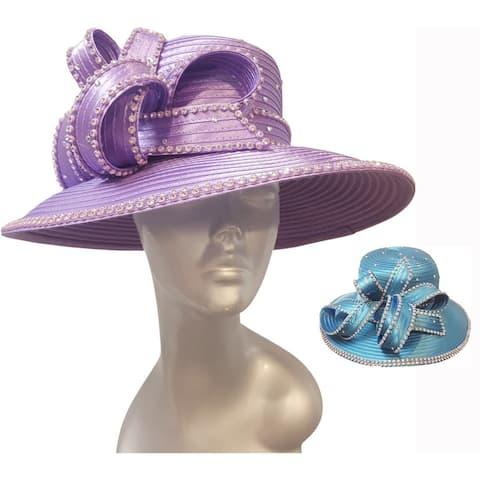 Women's Year-round Designer Couture Satin Ribbon Church Hat