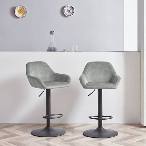 Corvus Wendy Contemporary 34-42 inches high Adjustable Bar Stool (Set of 2)