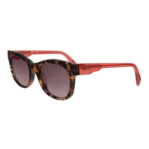 Just Cavalli JC783S 55T Orange Havana Rectangular Sunglasses - No Size