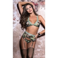 6782b928d1b Shop Take The Lead Camo Bra Set - Camouflage - Free Shipping On ...