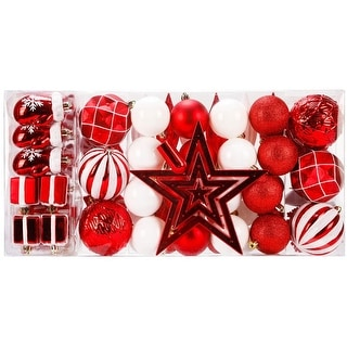 Link to TiramisuBest 88 Piece Assorted Christmas Tree Shatterproof Balls Ornaments Similar Items in Christmas Decorations