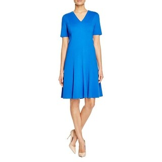 T Tahari Womens Valencia Wear to Work Dress A-Line Raw Hem