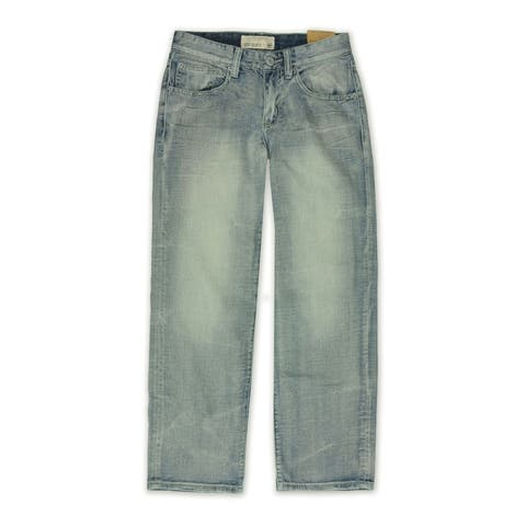 Ecko Unltd. Mens Core Crystal Wash Denim Relaxed Jeans, blue, 28W x 32L