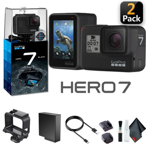 GoPro HERO7 Black (2 Pack)-Waterproof Action Camera with Touch Screen