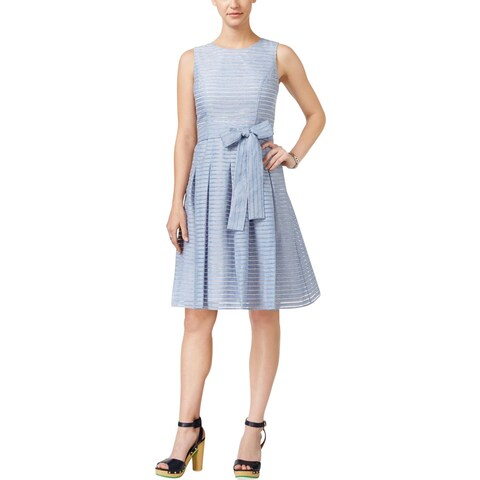 Tommy Hilfiger Womens Casual Dress Illusion Stripe Side Tie