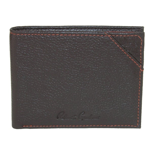 Robert Graham Men's Leather Bifold Wallet with Embossed Detail - One size
