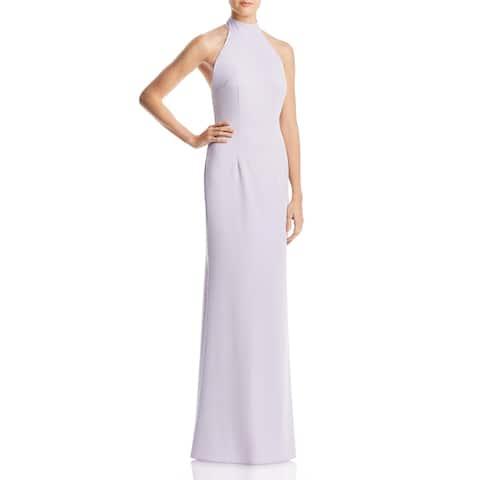 Jarlo Womens Tenny Evening Dress Bow-Back Halter Neck - Lilac