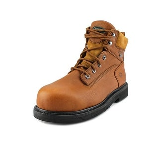 "Wolverine DuraShocks 6"" Men EW Round Toe Leather Brown Work Boot"