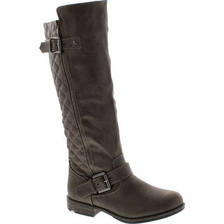 Bamboo Montage-87N Women's Knee High Buckle Riding Boots