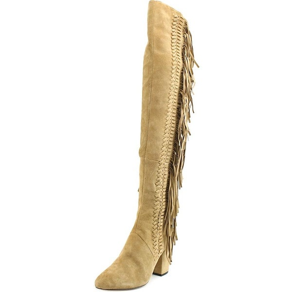 Rebecca Minkoff Inez Pointed Toe Suede Over the Knee Boot