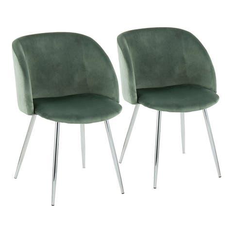 Fran Velvet Upholstered Dining Chairs (Set of 2)