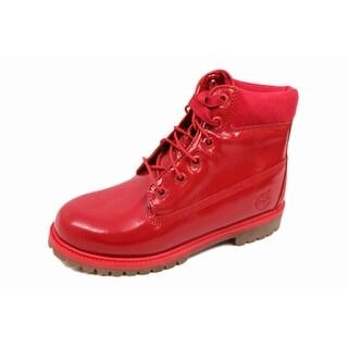 Timberland Grade-School 6 Inch Premium Waterproof Red Shine TB0A151B