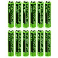 Replacement Panasonic HHR-55AAABU NiMH Cordless Phone Battery - 630mAh / 1.2v (12 Pack)