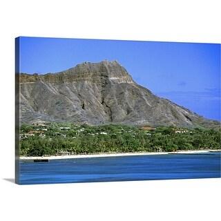 """Diamond Head, Honolulu"" Canvas Wall Art"