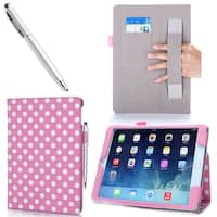 iPad Air 2 Case, i-Blason Apple iPad Air 2 Case, Leather Case, With Bonus Stylus - Dalmation/Pink