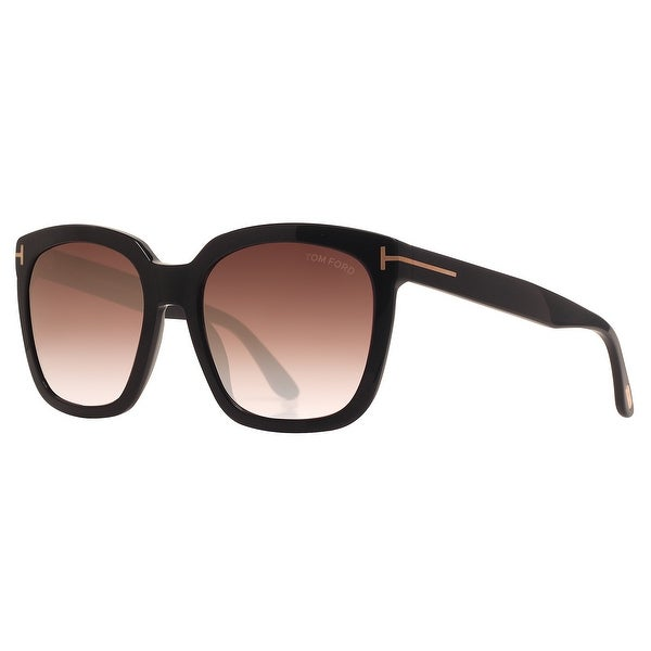 65b0e2938a90c Tom Ford Amarra TF 502 01T 55mm Black Burgundy Gradient Women Square  Sunglasses - Shiny Black