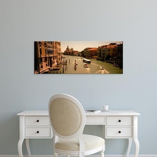 Easy Art Prints Panoramic Images's 'High angle view of boats in water, Venice, Italy' Premium Canvas Art