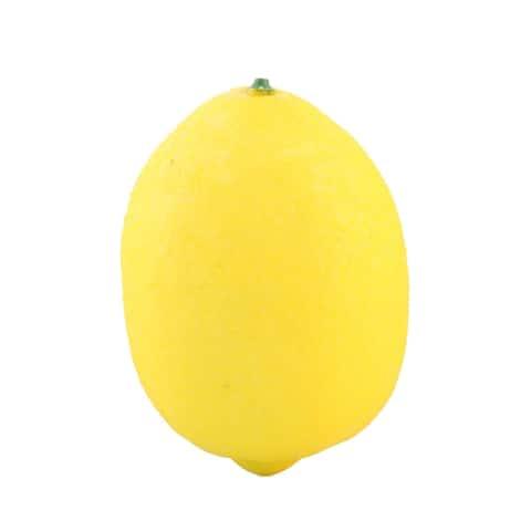 Kitchen Table Decor Foam Artificial Lemon Design Emulation Fruit Mold - Yellow