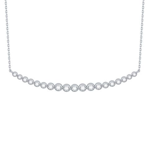 Smiling Rocks Essentials Collection 0.50Ct G-H/VS1 Lab Grown Diamond Necklace