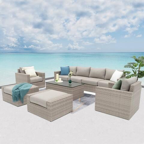 Avalon Bay 9-piece Deep Seating Set