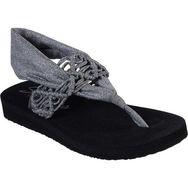 723404c2a3b0 Shop Skechers Women s Meditation Inhale Thong Sandal Gray - On Sale ...