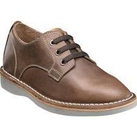 Florsheim Boys' Navigator Plain Toe Oxford Jr. Brown Leather