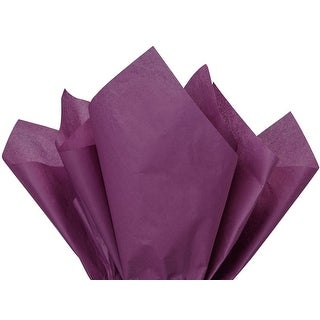 """Pack Of 480, Solid Plum Tissue Paper 20 x 30"""" Sheet Half Ream Made From 100% Post Industrial Recycled Fibers"""