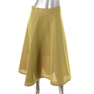 DKNY Womens Mesh Lined Flounce Skirt - 2
