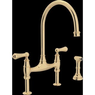 rohl u4719l 2 perrin and rowe bridge kitchen faucet with side spray - Rohl Kitchen Faucets