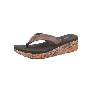 Roper Western Shoes Womens Faux Splash Wedge 09-021-0607-1182 BR