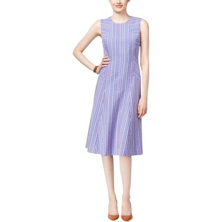 Anne Klein Womens Wear to Work Dress Jacquard Sleeveless