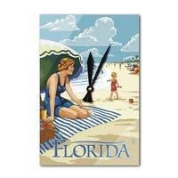 FL - Beach Scene - LP Artwork (Acrylic Wall Clock) - acrylic wall clock
