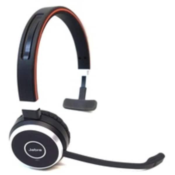 Jabra EVOLVE 65 With Charging Stand UC Mono - Mono - Wireless - Bluetooth -  98 4 ft - 150 Hz - 7 kHz-REFURBISHED