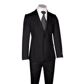 Zegna Ermenegildo Cloth Superfine Wool Black Suit By Canaletto Menswear