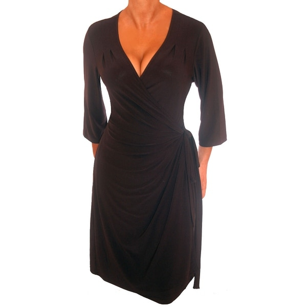 Funfash Plus Size Dress Slimming Wrap Dress Cocktail Dress