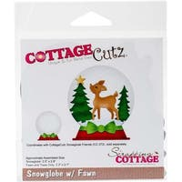 "Snowglobe With Fawn 2.1"" To 2.8"" - Cottagecutz Die"