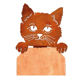 "Cat Steel Silhouette - Indoor Outdoor Home Decor - Measures 5 "" X 5"""