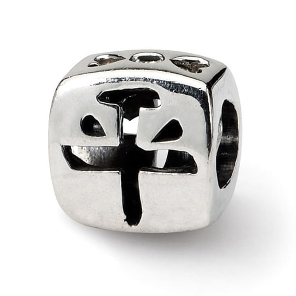 Sterling Silver Reflections Chinese Peace Bead (4mm Diameter Hole)