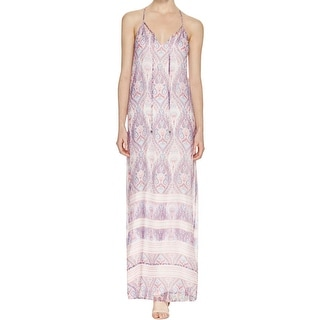 Ella Moss Womens Maxi Dress Silk Paisley