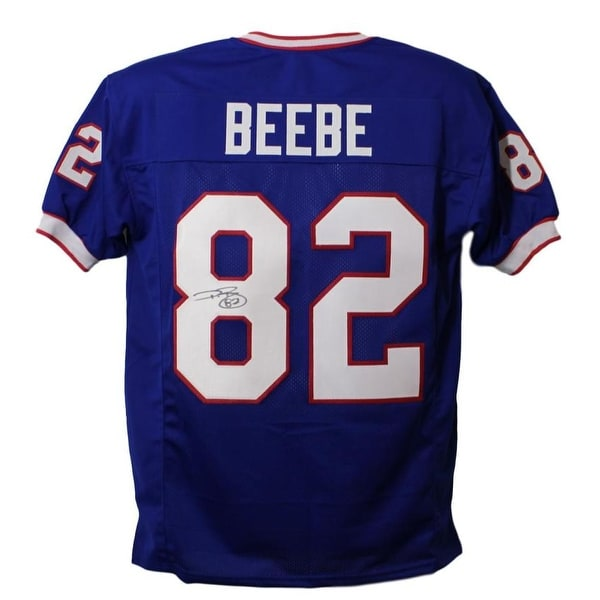 the best attitude 0acfa 5bea6 Don Beebe Autographed Buffalo Bills Blue XL Jersey