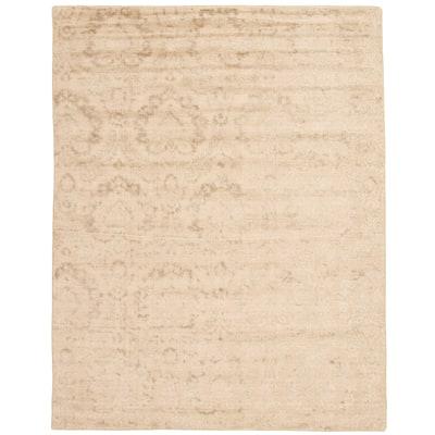 ECARPETGALLERY Hand Loomed Galleria Beige Viscose Rug - 7'9 x 9'11
