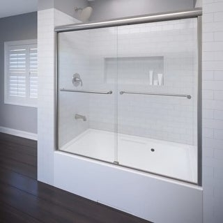 "Basco A0582-60CL Celesta 58-1/4"" High x 60"" Wide Bypass Framed Tub Door with Clear Glass"